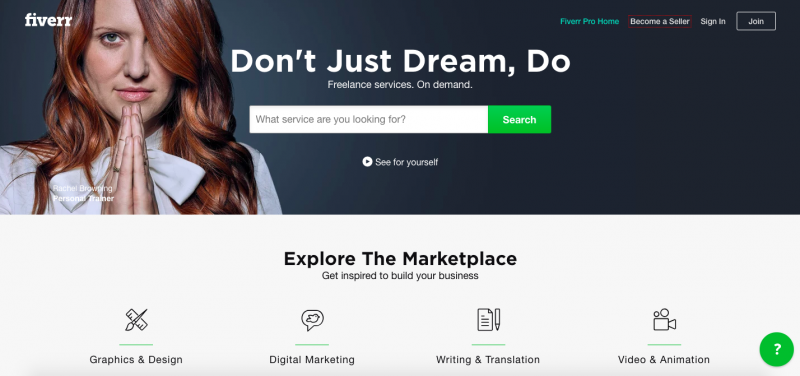 Fiverr-home-page