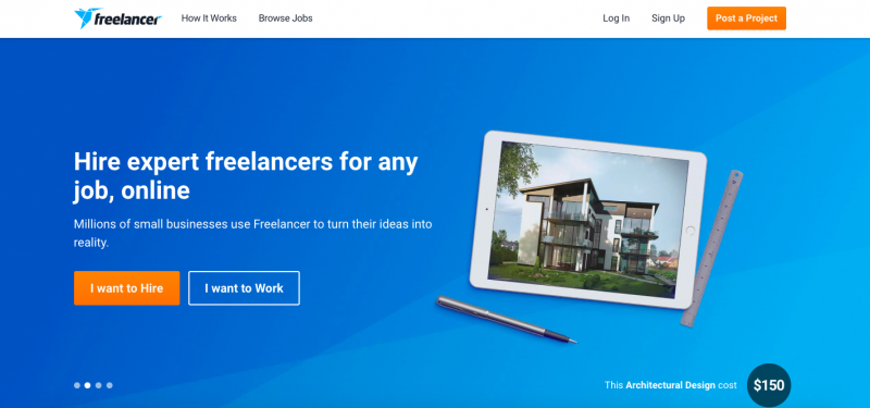 freelancer-com-home-page