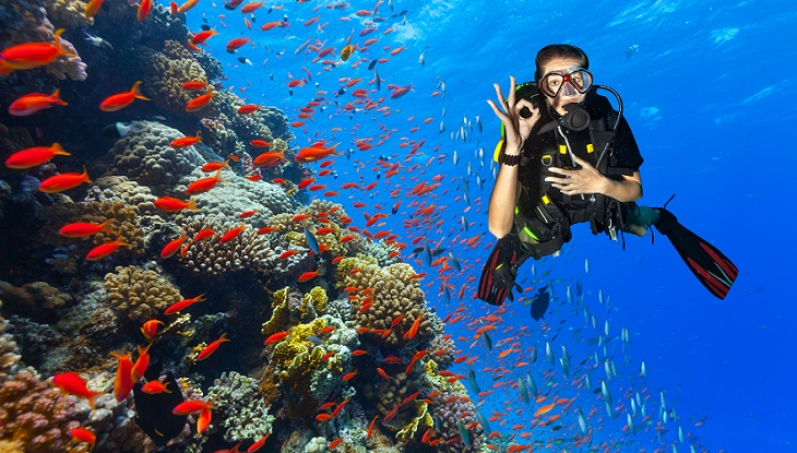 Diving-hang-signal