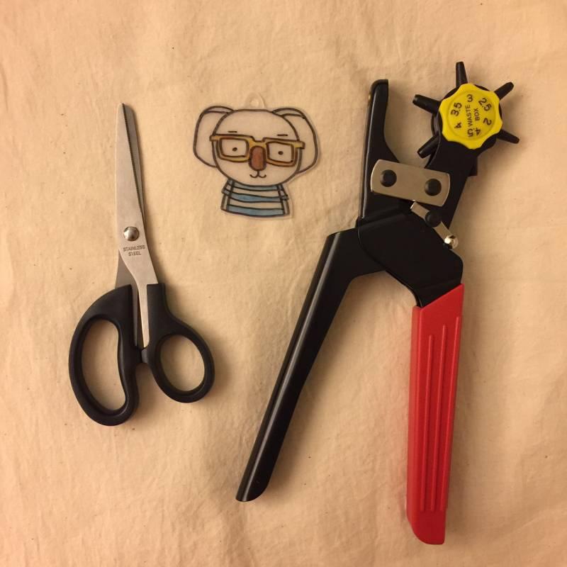 熱縮片-工具-材料-打孔