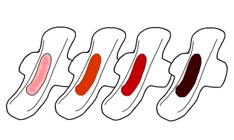 月經顏色-健康-假性月經