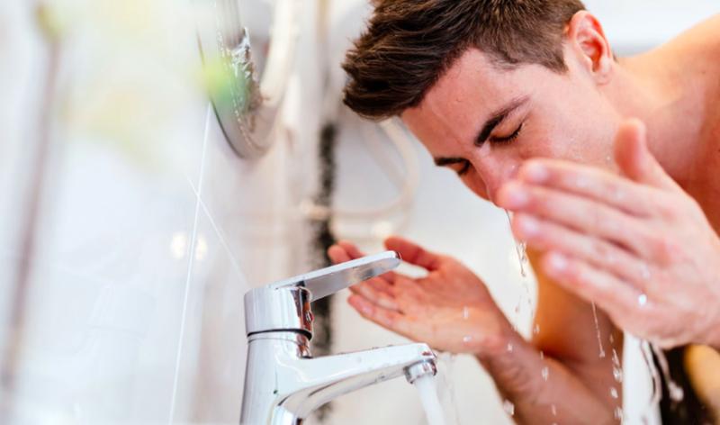 長鬍子-洗臉-臉部保養