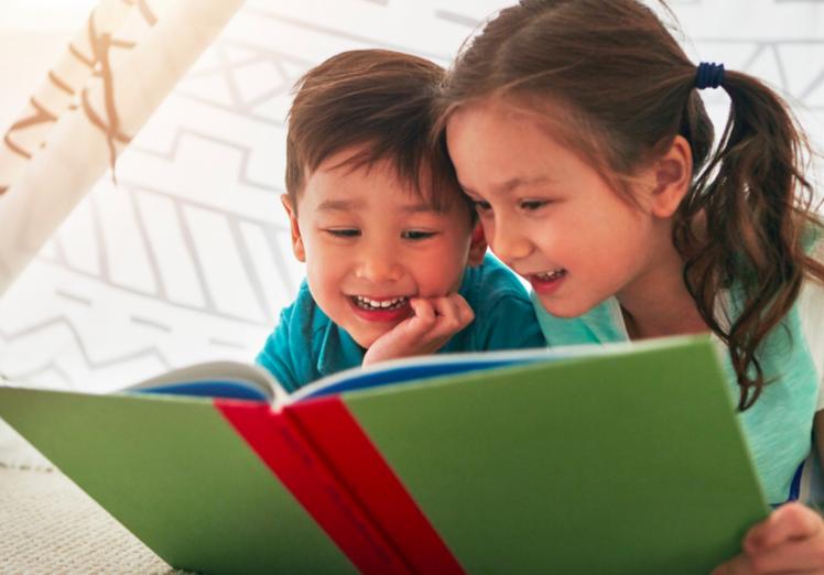 女孩-男孩-閱讀-習慣-讀書-唸書-自發-訊練